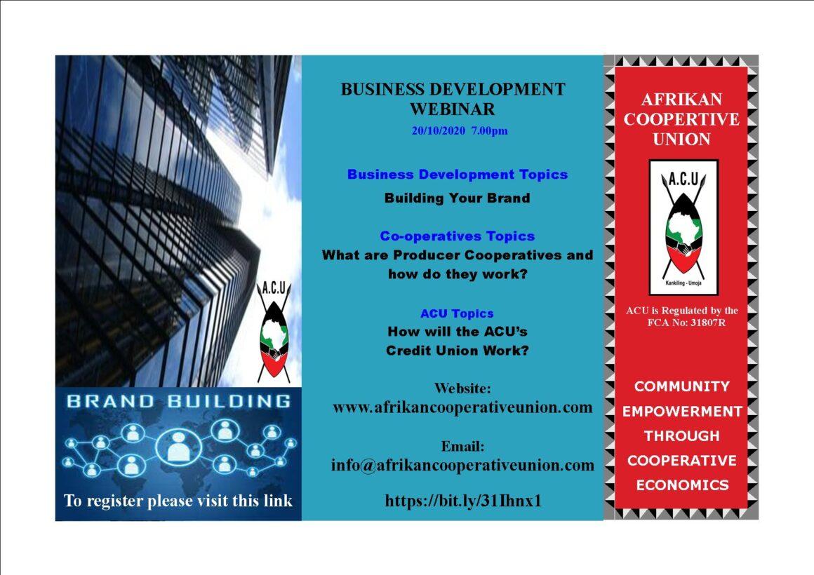 ACU Business Training Webinar – October